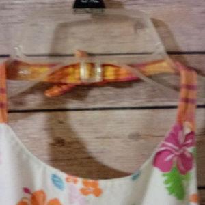 CHAPS Dresses - CHAPS 4T HALTER DRESS SUNDRESS BOW FLOWERS STRIPES